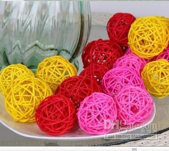 3 cm 1.2 inch Diameter Creative rattan ball for Christmas Wedding Decoration home Ornament craft supplies free shipping
