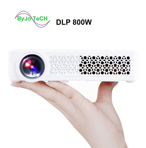 best selling Poner Saund DLP800W Mini projector 3D 1080p Projector Full HD LED HDMI USB WIFI LED Projector Built-in Android 6.0 Bluetooth 4.0 DLP 800W