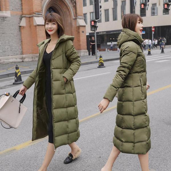 S-6XL spring winter Women Plus size Fashion cotton Down jacket hoodie long Parkas warm Jackets Female winter coat clothes