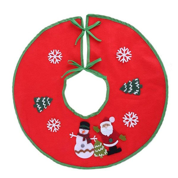 18 pouces Arbre rouge de Noël Jupe Arbre de Noël Jupe de base Couverture Décorations