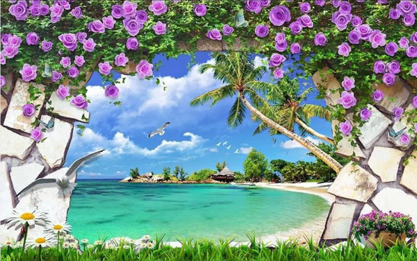 Custom Any Size Photo Natural Scenery 3d Background Wall Beautiful Scenery Wallpapers Angelina Jolie Wallpapers Animated Desktop Wallpaper From