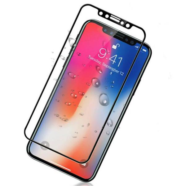 10D lcd cep telefonu ekran koruyucu film IÇIN: 6 6 S 7 8 X XS XR MAX ARTı Ark kenar tam ekran çelik filmi