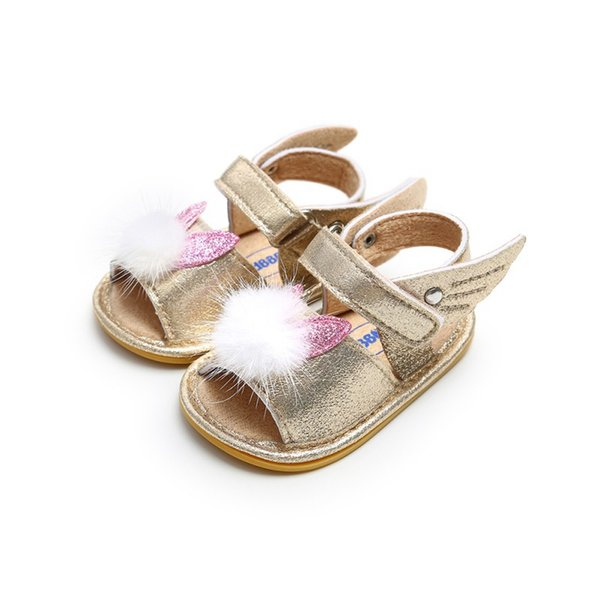 2019 New Cute Newborn Infant Baby Girls Bowknot Princess Shoes Toddler Summer Sandals PU Non-slip Rubber Shoes0-18M