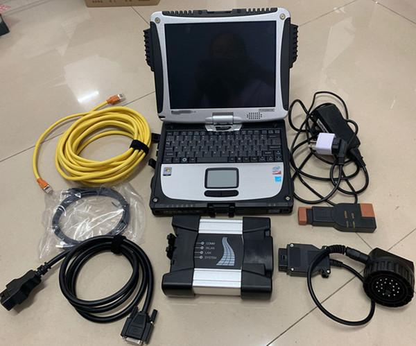 Para BMW ICOM Next Com Laptop diagnosticar + Rheingold ISTA hdd 500 gb + Toughbook CF-19 Laptop (4G) Com Tela de Rotação Tocante