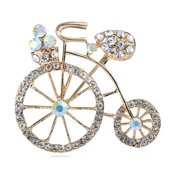 4fe7bba675c custom Vintage Bicycle Bike safety pin Brooch Pin Ladies crystal rhinestone  lovely Bike lapel Pin Brooch