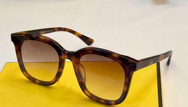 Women Square Havana Brown Sunglasses 0286/s Sun Glasses gafas de sol Top Quality New wth Box