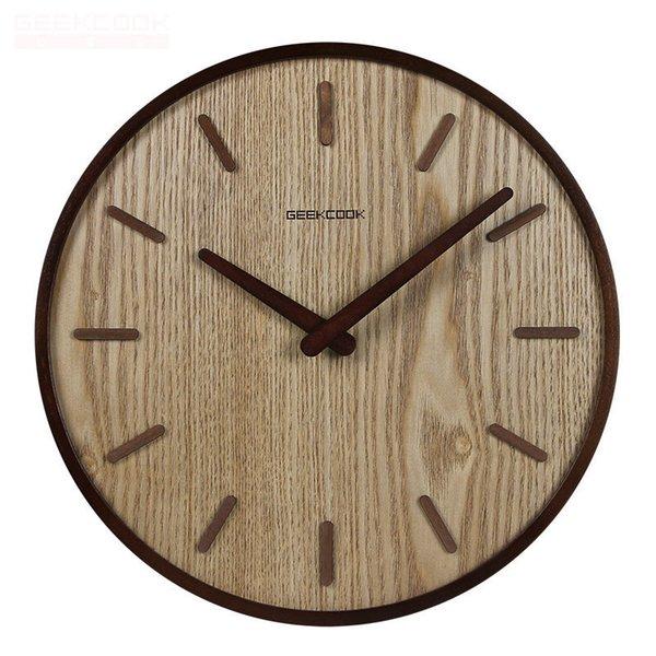 Großhandel 14 Zoll Holz Wanduhr Kreative Vintage Nicht Tickt Stille  Wanduhren Küche Indoor Home Office Dekorativ Von Fahome, $44.23 Auf  De.Dhgate.Com ...