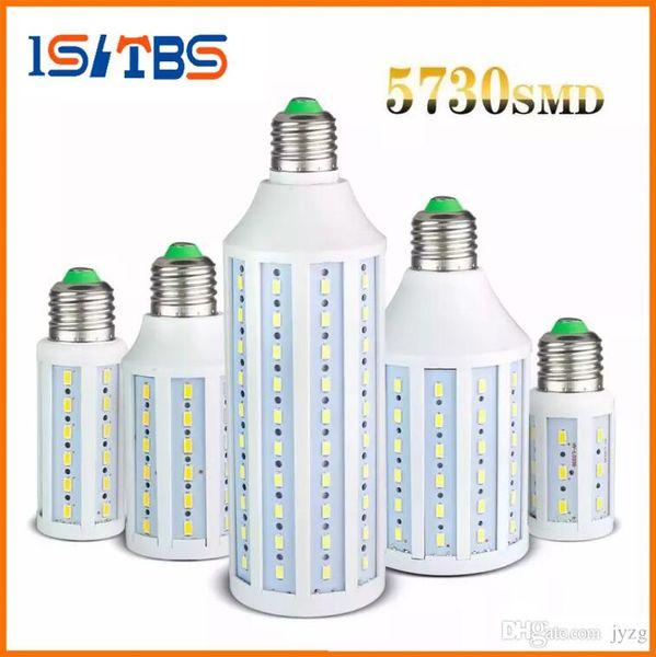 Led Ampuller E27 SMD 5730 Led Mısır Işıkları 360 Açı Led Kolye Aydınlatma AC 110-240 V Süper Parlak 40 W 50 W