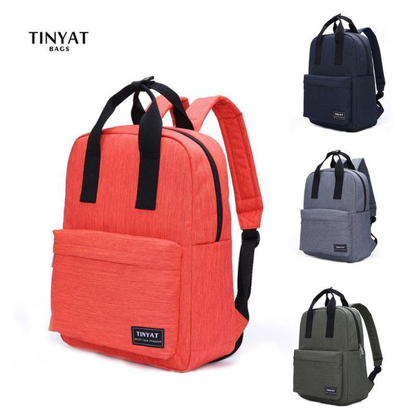 discount price best prices big collection Tinyat Backpack For Men Women Canvas Leisure Travel Backpacks Laptop Bag  Outdoor Sports School Teenagers Backpack Fashion Bags Travel Backpacks  Small ...