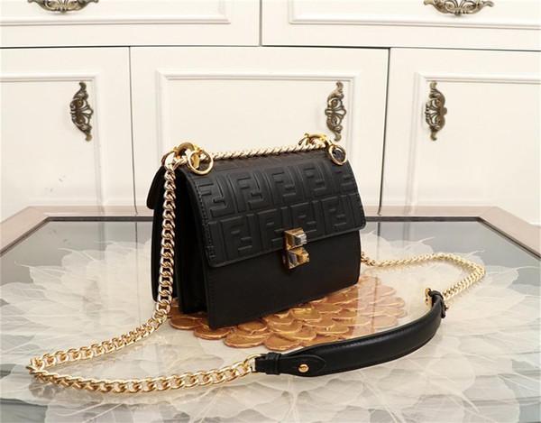 2019 дизайнер роскошные сумки кошельки 19 Fendi наплечные сумки с цепными ремнями регулируемая кожа высокое качество клатч мода Gif