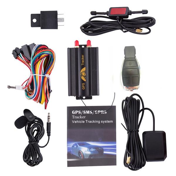 GPS103B GSM / GPRS / GPS Auto Vehicle TK103B GPS per auto Tracker dispositivo di localizzazione con telecomando antifurto Car Alarm System