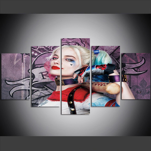 Harley Quinn Suicide Squad Canvas Framed Print Wall Art ~ More Size