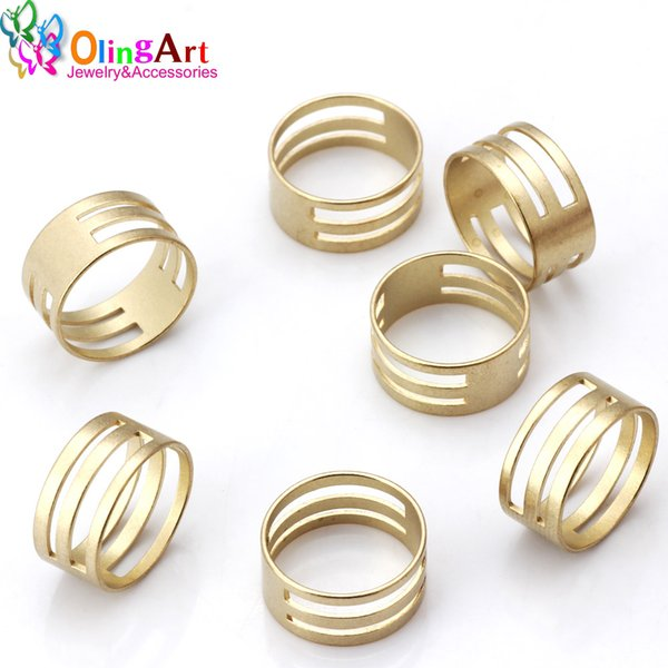 OlingArt 18MM 5pcs/lot high quality Copper Ring tool Suitable for opening/closing of various size jumpers DIY Jewelry Making