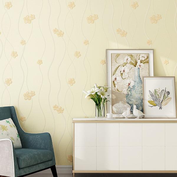 Carta da parati moderna Canna Pianta da parete Designer Carta da parati Per Cameretta Adesivo per rivestimento pareti camera da letto soggiorno