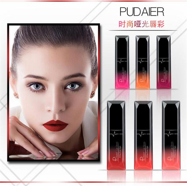 PUDAIER Waterproof Velvet Liquid Lipstick Sexy Red Lip Tint 21 Colors Lip Gloss Make up Fashion Hot Style