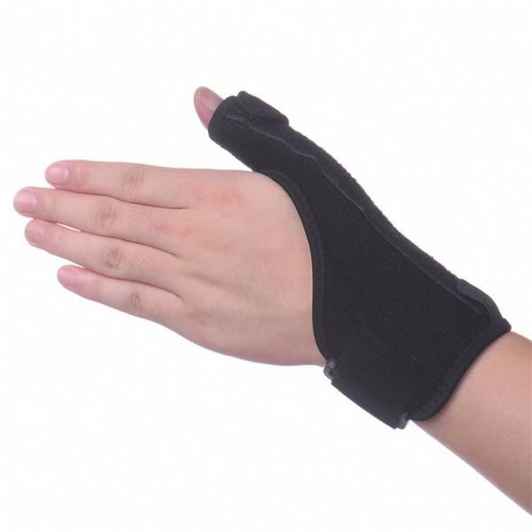 Black Sport Wrist Thumbs Hand Support Brace Guard Training Wrist Protector Splint Sprain Thumb Stabiliser Arthritis Pain Relief #19406
