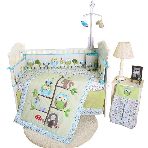 Eco-friendly fácil limpeza bonito novo preço competitivo applique applique bebê conjunto de cama
