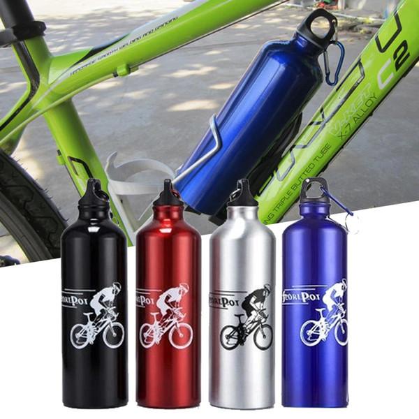 Botella Beber agua 750ML exterior mosquetón Senderismo Ciclismo Copa de aluminio
