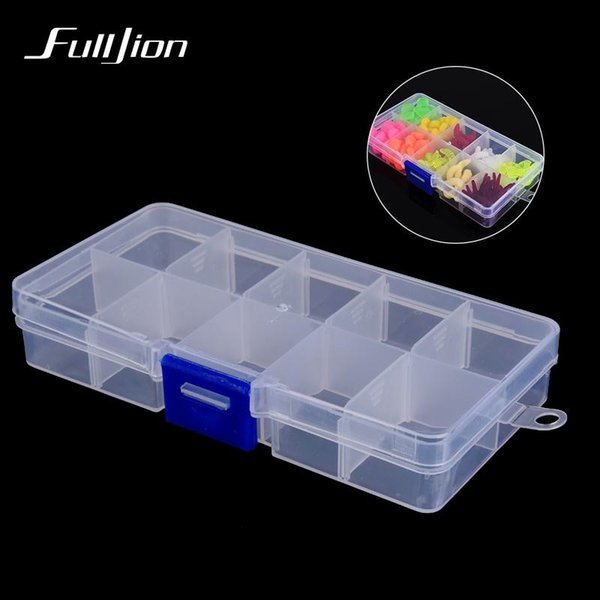 - Bait Box for Fishing Lures Hooks Other Fishing Tools Fishing Tackle Box Multifunctional With 10 Compartments Visible Plastic Box