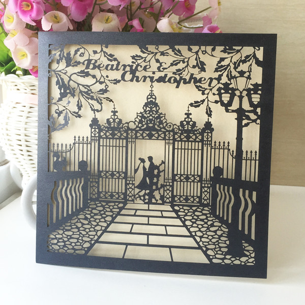 Lovely Wedding Invitations Card Envelope Fancy Dress Party Prince