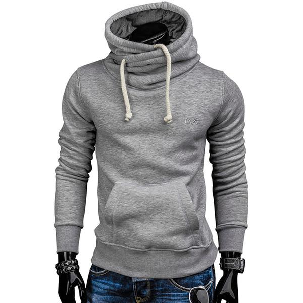 Hoodies Men 2019 Autumn Fashion Brand Pullover Solid Color Turtleneck Sportswear Sweatshirt Men's Tracksuits Moleton S-xxl