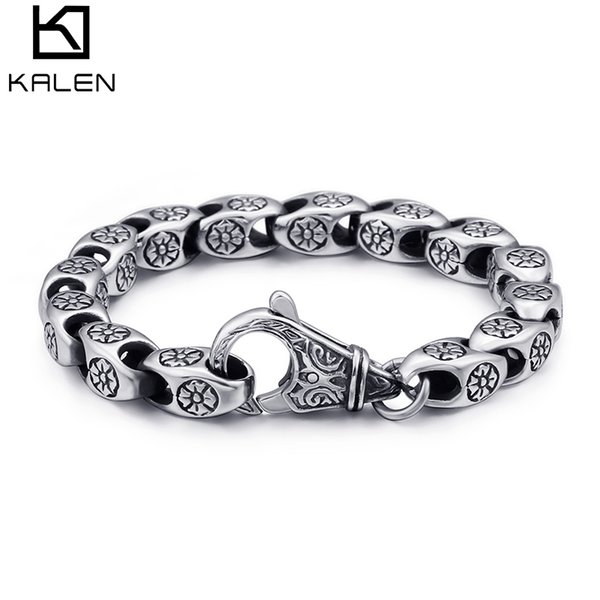 Punk Stainless Steel Snake Chain Linking Bracelets For Men 22cm Metal Silver Link Chain Armband Jewelry