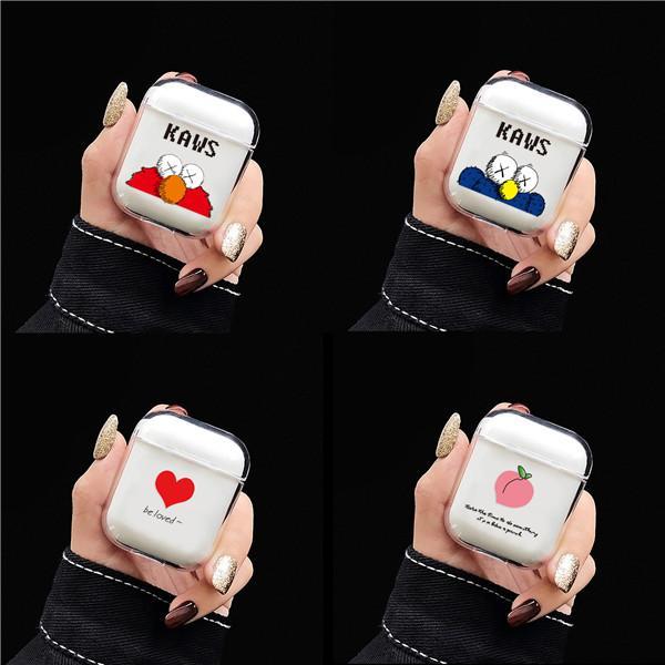 À prova de choque pc duro protetora case para apple airpods bonito dos desenhos animados fone de ouvido sem fio à prova de choque bolsa com plugue anti-poeira