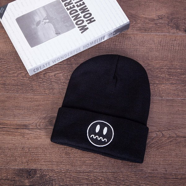 e747e6f0856d Fashion Embroidery Wool Knitting Hats Winter Caps Outdoors Keep Warm Hat  Autumn Couple Cap Men Women Lovers Ski Beanie Thermal