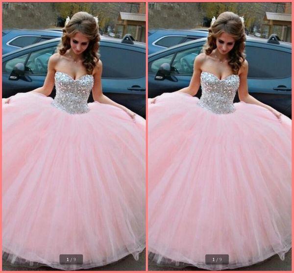 Compre Vestidos 15 Años Rosa 2019 Vestido De Fiesta Vestidos De Quinceañera Fuera Del Hombro Sin Tirantes Debutante Dulce 15 Años Vestidos De Gala A