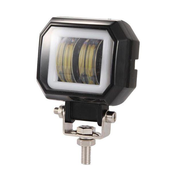3inch 6000K 40W LED redondo Angel Eyes Light Bar 6000k Impermeable-Prueba de alta transmitancia Offroad Work Light