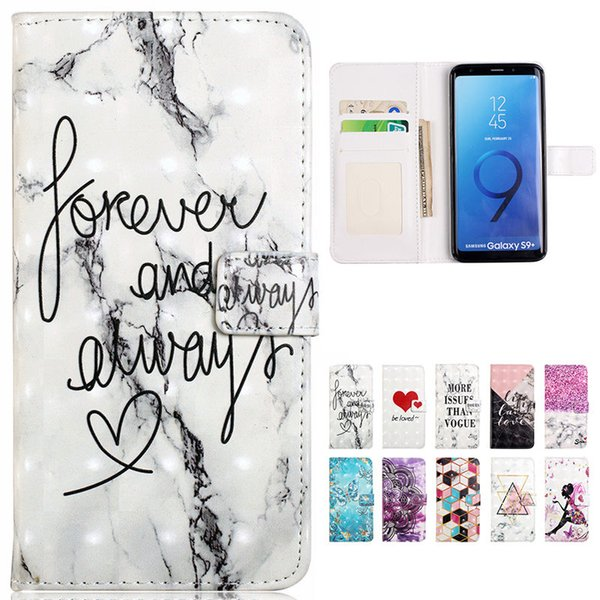New XY PU Wallet Case for Samsung S9 S8 Plus S6 S7 A3 A5 A6 A7 A8 A9 Edge Phone Back Cover