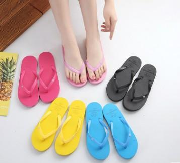 Wholesale Free Shipping Special SALES Candy colors Womens Beach Summer Slippers Flip Flops Couple slippers Multi -Color pink dog slippers