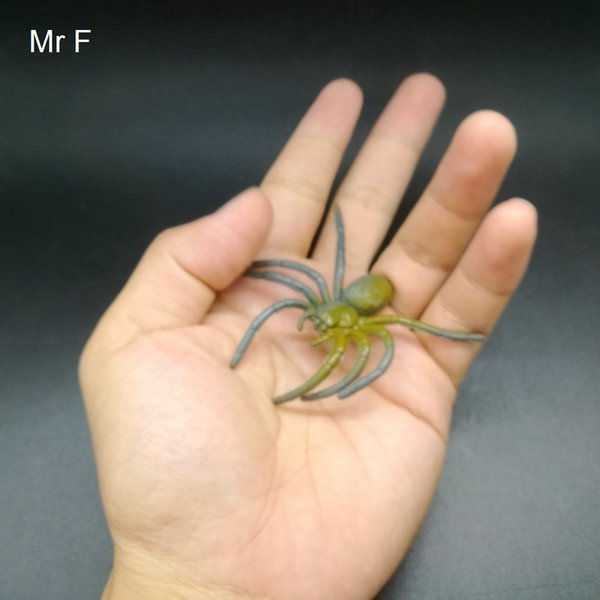 Kid Gift Brown Spider Insert Practical Toys Science Animals Nature Model Game Mini