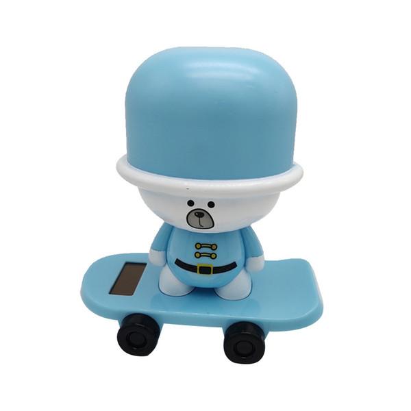 1pcs patrón de la panda de animales solider perro con energía solar baile adorno de balanceo animado bailarín de coches de juguete casa nueva Windowsill