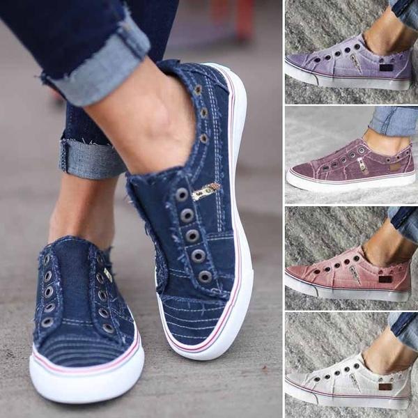 2019 Sonbahar Kış 6 Renkler Kadınlar Konfor Tuval Sneakers Günlük Düz Ayakkabı dantel Up Kızlar Ayakkabı üzerinde Kayma