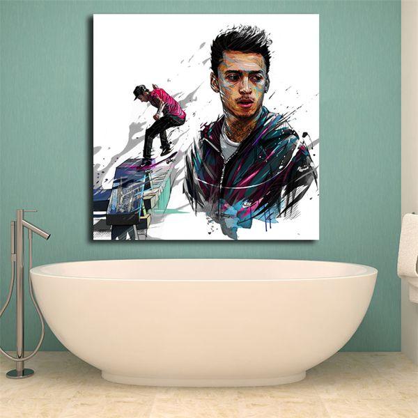 Migos2 Illustration Yann Dalon Wandkunst Leinwand Poster Und Druck Leinwand Malerei Dekorative Bild Für Schlafzimmer Moderne Wohnkultur