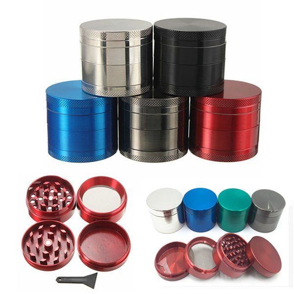 Sigara Öğütücü Herb Öğütücü 4 parça Metal Diş Tütün Filtresi Değirmeni Araçları Mix Renk 40mm 50mm 55mm 63mm XD20831