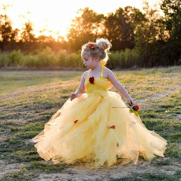 2019 New Design Mint Gold Girls Pageant Dresses Flower Girl dress Ball Gown Lace Appliqued Butterflies Kids Evening Prom Party Tutu Gowns