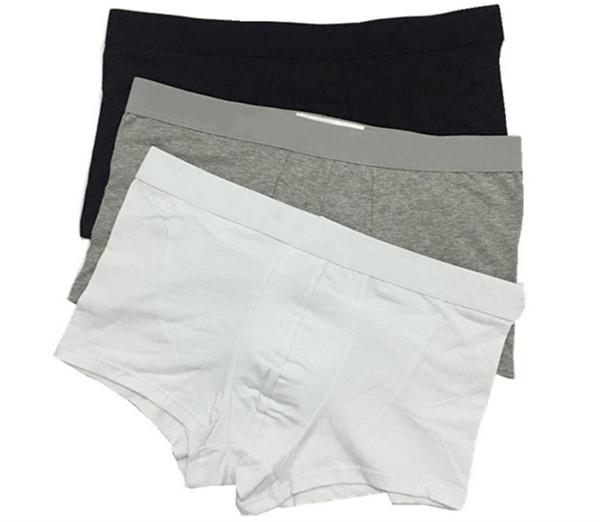 Venda quente Famosa Marca Boxers Shorts Dos Homens de Luxo Sexy Underwear Homens Algodão Macio Respirável Confortável Moda Mens Cuecas Boxer Cueca