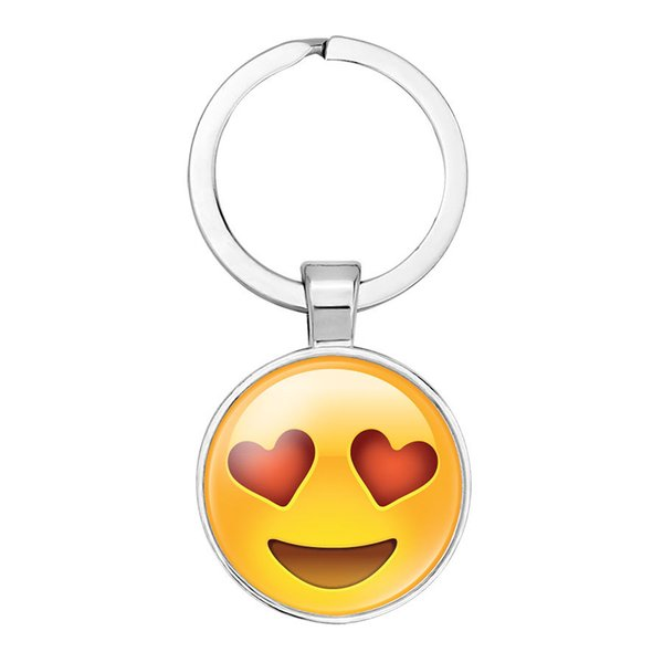 fashion561 pendant key Holder cute facial expression pattern key chain ring gifts for family or friends