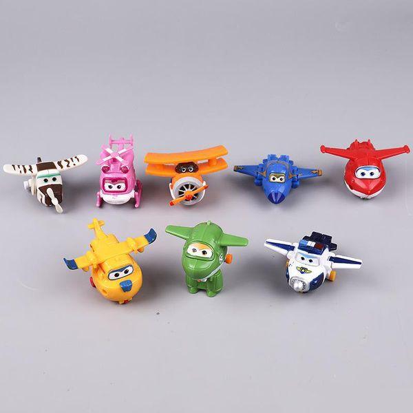 Figuras de acción de Super Fighter para coches de helicópteros para niños kits de construcción de modelos de mini figuras de acción decoraciones juguetes y robots de transformación