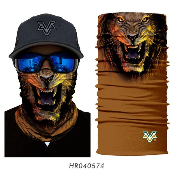 3d magic mask animal gog cat tiger wolf lion bear braga cuello hombre bandana ciclismo men cycling camping skating neck warmer, Black