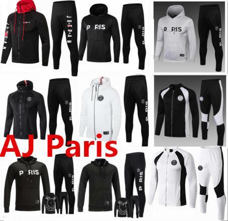2019 2020 PSG chaqueta con capucha Champions League Survetement 1920 PSG MBAPPE fútbol chaqueta air jordam soccer TRACKSUIT