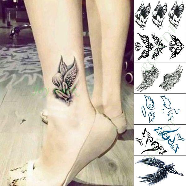 Водонепроницаемый Временные Татуировки Наклейки Крыло Ангела Поддельные Tatto Руку Рукой Ноги Флэш Тату для Малыша Девушки Мужчины Женщины