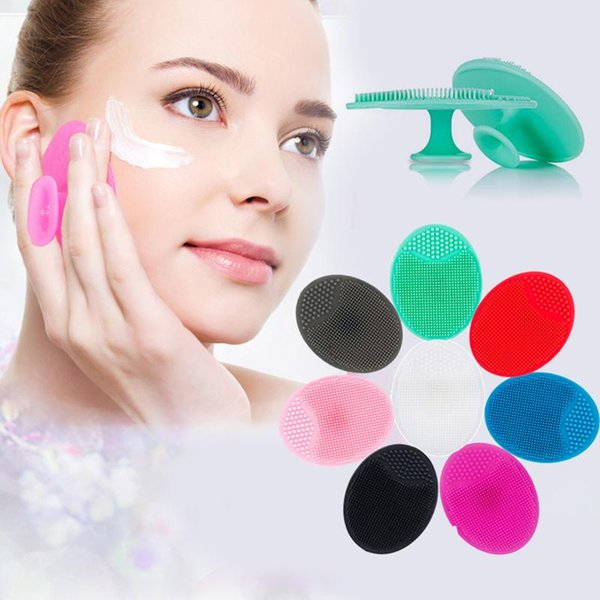 best selling Silicone Facial Cleansing Brush Deep Pore Cleaning Face Massage Cleaning Tool Facial Exfoliating Brush Skin Scrub Cleanser Tool