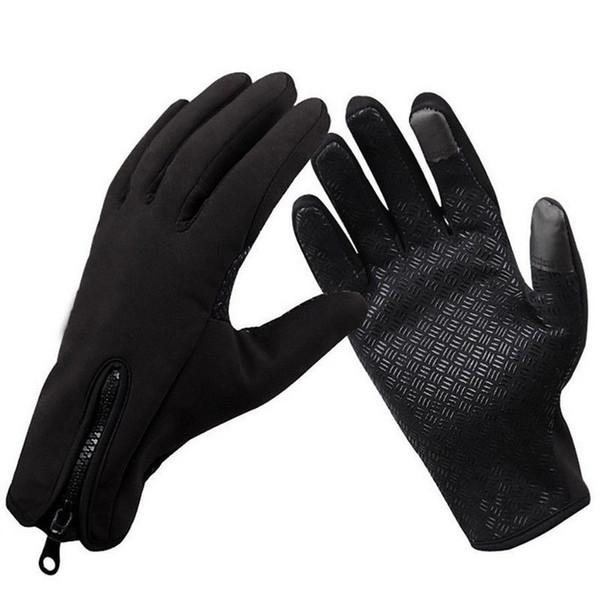 Men Winter Thermal Touch Screen Gloves Outdoor Sport Ski Gloves Waterproof 2019
