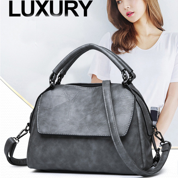 High Quality Oil Wax Leather Handbag Female New Fashion Personality Retro Atmosphere Shoulder Bag Casual Wild Messenger Bag