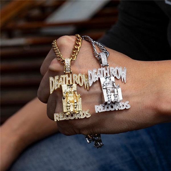 2019 New King Ice Death Row Pendant Hip Hop TUPAC Necklace Fashion Accessories For Men And Women M077F