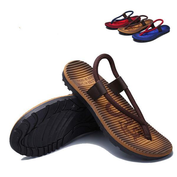 Calçados masculinos New Beach Outdoor Casual flip-flops Tide criativas Chinelos de personalidade casuais dos homens
