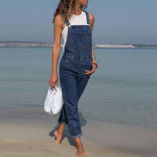 Bayan Kot Kadın Moda Baggy Denim Pantolon Kaba Dize Bayanlar Slim Fit Kot Kadın Genel Tulumlar Pantolon Rahat Uzun Pantolon J190505